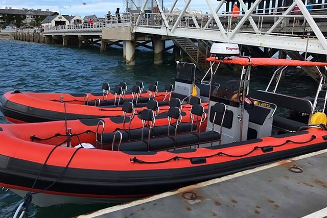 One of our high performance RIBs used for our RYA Powerboat Level Two training